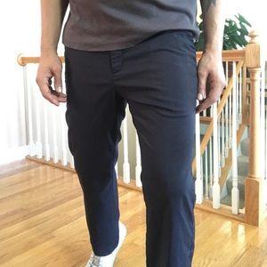 Nike Dri Fit Golf Pants Striped Stretch Black Gray